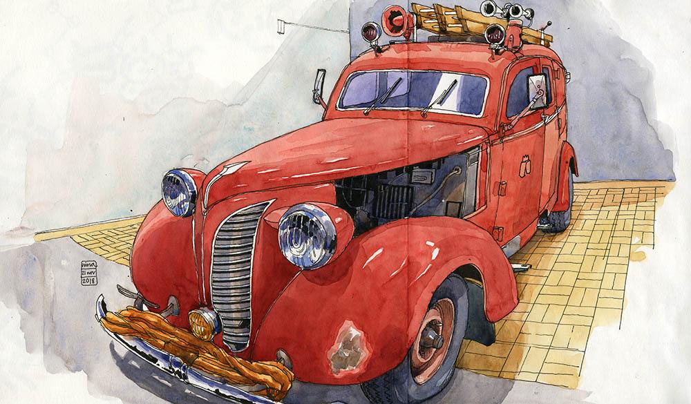Volvo fire engine